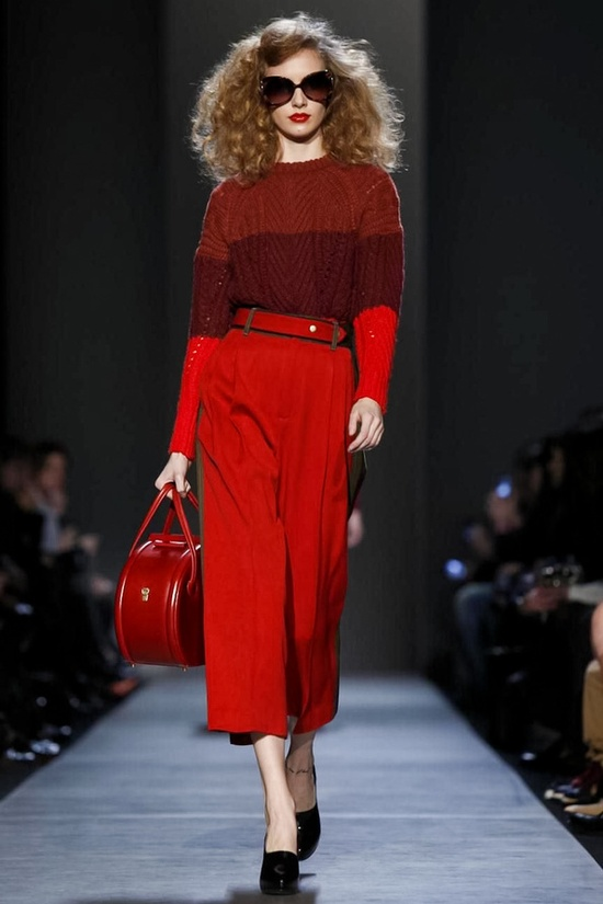 marc jacobs FW 2013 and a red leather hat box purse