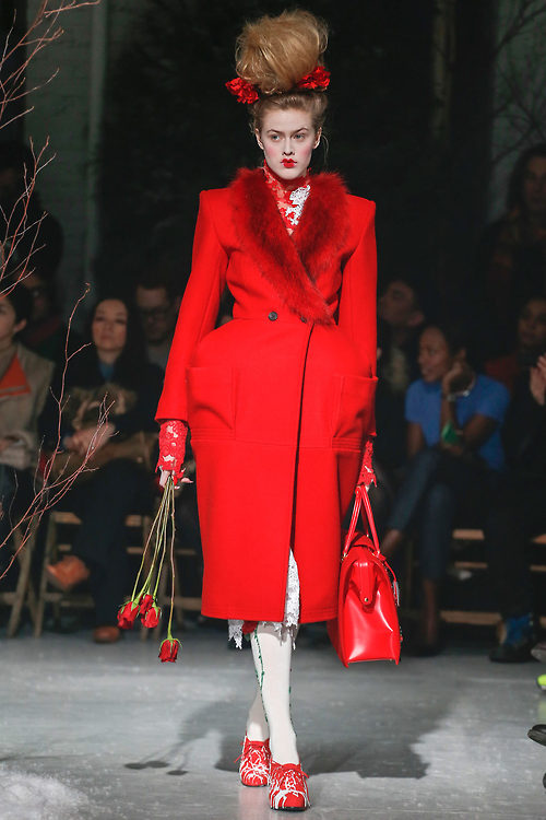 thom browne AW 2013 in red