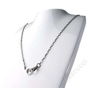 Nomination necklace in style FREEDOM with stainless steel hand cuff pendant