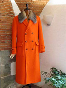 Panno Casentino traditional jacket with fox collar