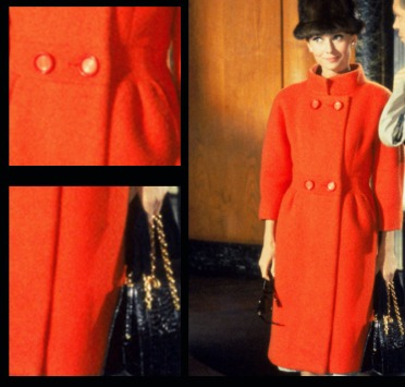 Audrey Hepburn in a coat made from panno casentino