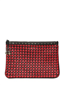 Givenchy weave leather clutch