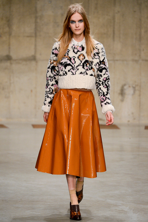 topshop unique FW 2013 leather skirt