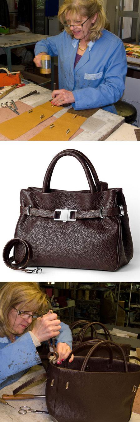 Pierotucci Italian Leather handbag Production for Monday