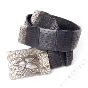 Scarab Belt Buckle from Post & Co Italian leather belts