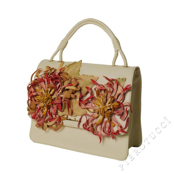A floral design from Braccialini Italian leather handbags