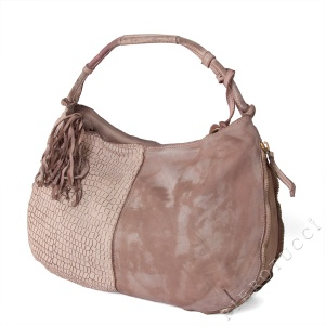Soft pastel colors in Caterina Lucchi Italian leather handbags