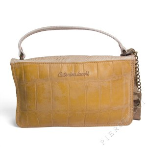 Caterina Lucchi trademark signature on Italian leather handbags