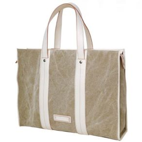 Canvas and leather tote bags from Pierotucci in Florence Italy
