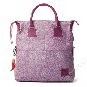 FORTUNATA Tote Bags in a splatter print with purple and silver