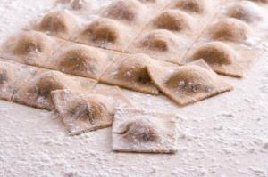 Pumpkin Ravioli from the Pierotucci cook book