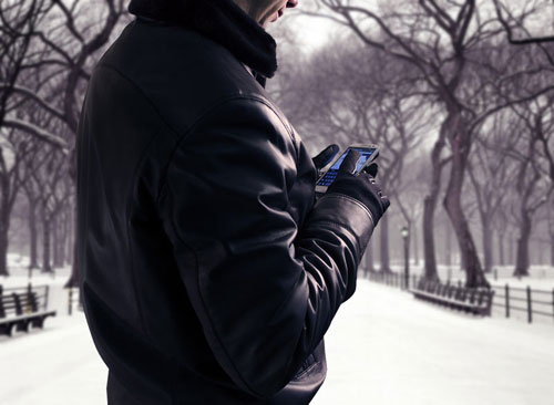 Italian Leather smartphone Gloves