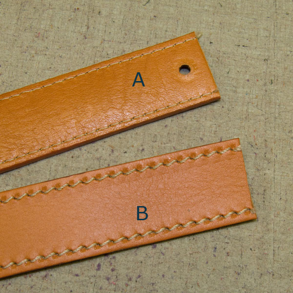 Altering the length of your Italian leather belt.