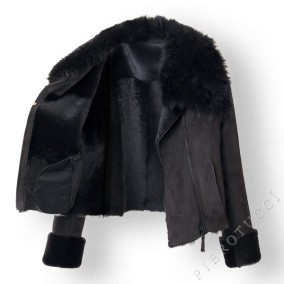 Shearling lining makes a warm and cozy jacket