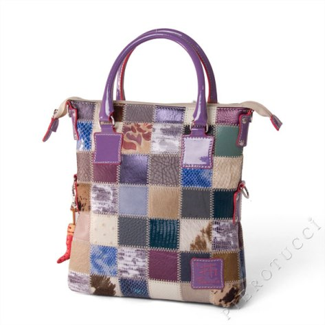 Mini Me Fortunata Italian Leather handbags in patchwork
