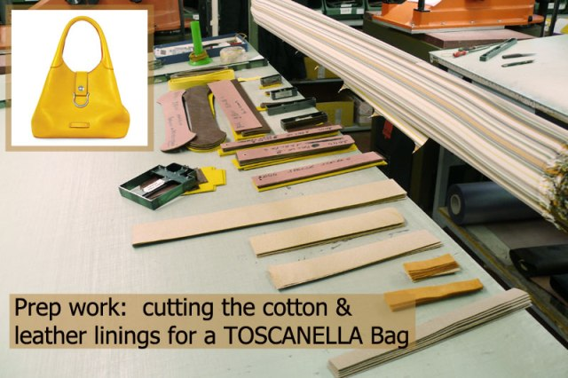 Preparation of leather for handmade leather bags